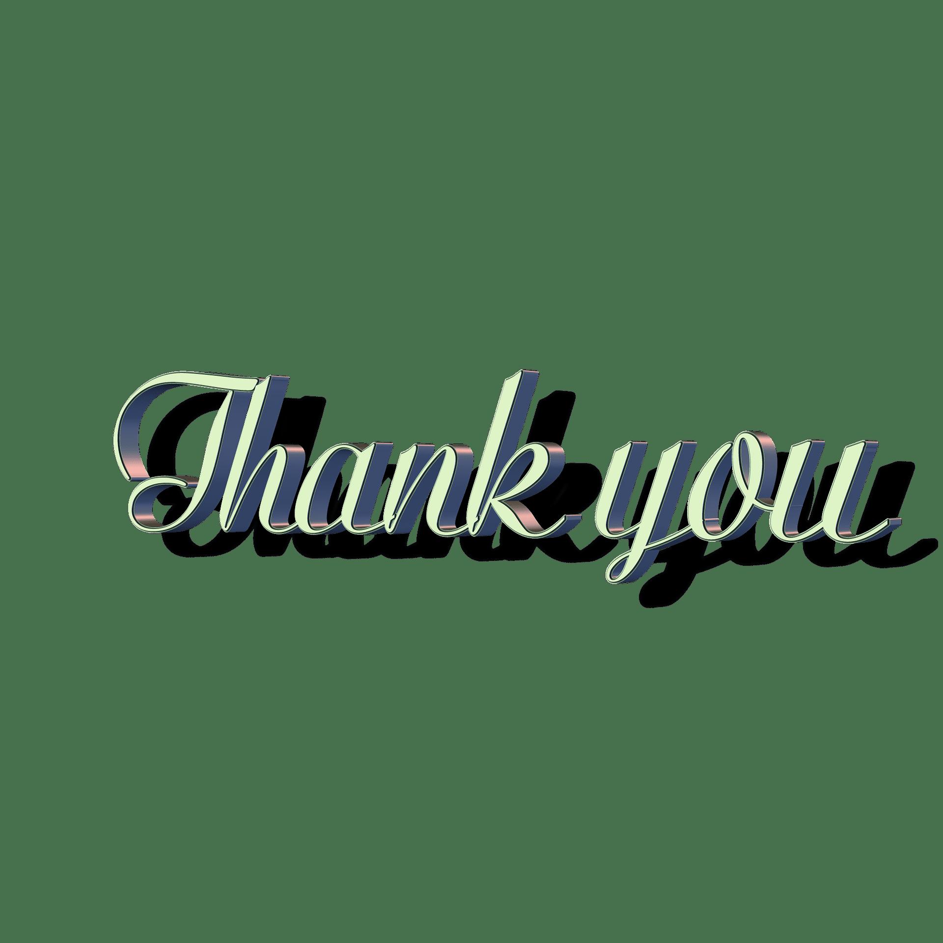 silver thankyou logo